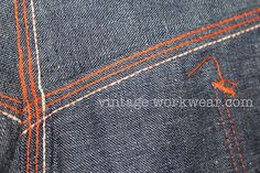 Orange triple stitch