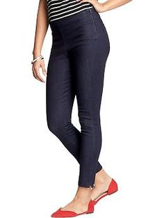 Women's Plain-Front Cropped Jeans | Old Navy