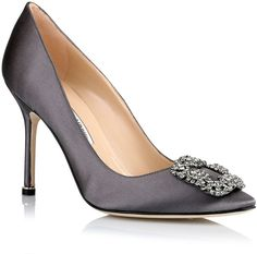 Manolo Blahnik Hangisi satin pump grey on shopstyle.co.uk