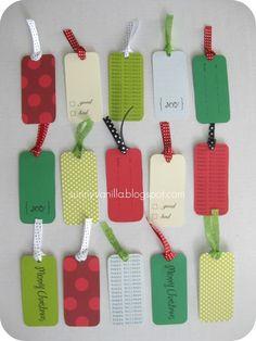 Sunny Vanilla: Free Printable - Christmas Gift Tags