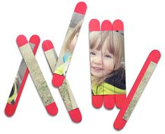 DIY puzzle- glue cut stops of photo to popsicle sticks Projects For Kids, Diy For Kids, Craft Projects, Crafts For Kids, Craft Stick Crafts, Diy And Crafts, Arts And Crafts, Popsicle Sticks, Craft Activities