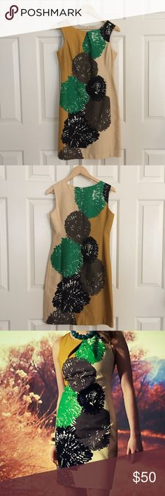 Anthropologie Tabitha Pom Shift Beautiful shift dress from Anthropologie! Good condition, true to size, fully lined. Anthropologie Dresses