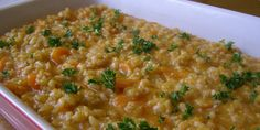 Ječmena kaša s mrkvom — Recepti — Coolinarika Bosnian Recipes, Barley Soup, Slow Food, Macarons, Risotto, Macaroni And Cheese, Chicken Recipes, Recipies, Clean Eating