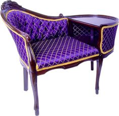 Purple and Gold Style Gossip Bench ~ This is gorgeous!