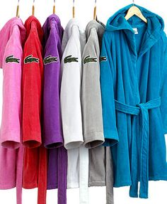 Lacoste Smash Bath Robe Available At Macy S