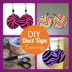 BluKatKraft: #DIY Duct Tape Earrings