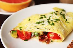 I call this kind, my garden omelette....spinach from whole foods, diced tomatoes, fresh parsley, low fat cheese sprinkles, mushrooms etc.