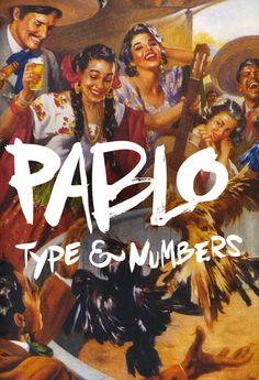 'Pablo' is a latin-inspired, handmade brush typeface.