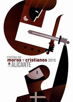 Cartel Oficial Moros y Cristianos 2015 de la ciudad de #Alicante #CostaBlanca