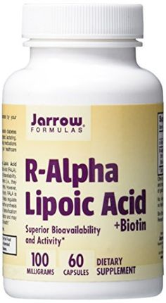 View larger Product Profile  Most alpha lipoic acid (ALA) products contain a racemic mixture of R-Alpha Lipoic Acid (R-ALA) and S-Alpha Lipoic Acid (S-ALA). Generally, equal amounts of R- and S- forms are produced during the manufacturing process of alpha lipoic acid, and thus, these products... more details at http://supplements.occupationalhealthandsafetyprofessionals.com/supplements-2/antioxidants/alpha-lipoic-acid/product-review-for-jarrow-formulas-r-alpha-lipoic-acid-sup
