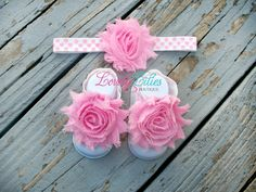 20OFF .. Baby Headband .. Baby Barefoot by LovelyLiliesBoutique, $10.00