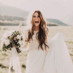 This bride's excitement is infectious! Joyful photo by India Earl Photography