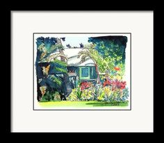 Hawaiian Cottage 3 Framed Print By Marionette Taboniar