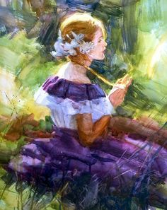 """Necklace"" watercolor by Scott Burdick"