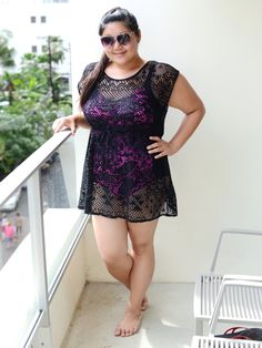 Rocking a SwimsuitsforAll swimsuit on the blog! :) #plussize #fashion #ootd Curvy Girl Chic Plus Size Fashion Blog SwimsuitsforAll