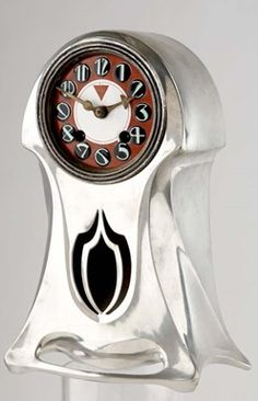 ORIVIT Table Clock with Secessionist face, c. 1904, Germany, 28cm high