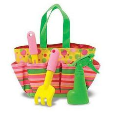 Blossom Bright Gardening Tote Set  Item #: 6232    Price: $14.99