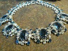 Sapphire Blue Fashion Statement Necklace