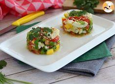 Ceviche de bacalao, Receta Petitchef Salsa Verde, Citrus Juice, Seafood Dishes, Cooking Tips, Potato Salad, Tapas, Eggs, Stuffed Peppers, Fish