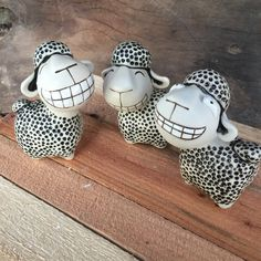 Smiling Sheep Super Cute sheep Couple sheep Ceramic Sheep ornament Ceramic Sheep figure mini sculpture sheep Adorable couple sheep by Coconutstudiopottery #TrendingEtsy