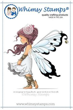Whimsy Stamps  Silver Fairy   NEW   2217