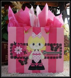 My Design Team Challenge project for Little Scraps of Heaven Designs.  I made over a Victoria's Secret gift bag.  Visit our Facebook fan page or blog to see the projects from all the DT members.