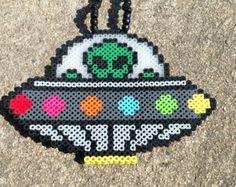 Image result for alien perler bead door hangers Perler Patterns, Bead Patterns, Bead Crafts, Diy And Crafts, Iron Beads, Melting Beads, Perler Bead Art, Pearler Beads, Pattern Ideas