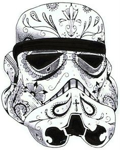 Storm Trooper Sugar Skull - for Mike and Emi