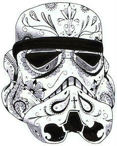 Storm Trooper Sugar Skull - for Jordy