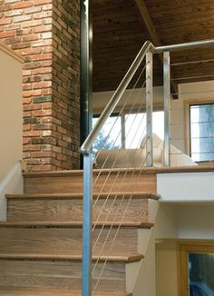 Entry stair - contemporary - staircase - dc metro - Bennett Frank McCarthy Architects, Inc.