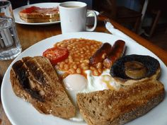 First of all, fuel up with a full English breakfast.
