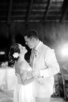 First dance in timeless black and white
