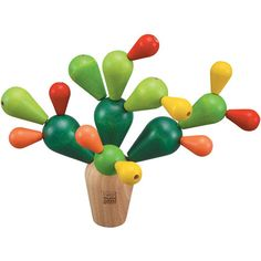 Kids' Stacking Wooden Cactus // Fun! I also want this (for my coffee table!) #productdesign #toydesign