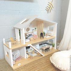 Купить Кукольный дом - комбинированный, Дом для кукол, дом для куклы, дом для барби, кукольный дом