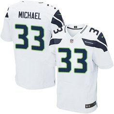"""$23.88 at """"MaryJersey""""(maryjerseyelway@gmail.com) Nike Seahawks #33 Christine Michael White Men's Stitched NFL Elite Jersey"""