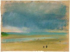 Edgar Degas | A la mer - (1863),  pastel
