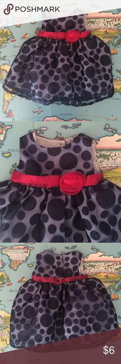 🎉HP🎉 Cherokee Dress 🎉Host Pick🎉 Everything Kids Party - 9/28/16. Formal/holiday dress by Cherokee. Blue with polka dots and a pink belt and flower. Great for pictures. Good used condition. Cat friendly home. No trades, holds or Paypal. 20% off of 2+ bundles. Cherokee Dresses Formal