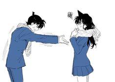 Ran And Shinichi, Kudo Shinichi, Happy Tree Friends, Vocaloid, Detective Conan Ran, Kaito Kuroba, Gosho Aoyama, Detective Conan Wallpapers, My Childhood Friend