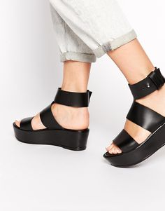 ASOS HEART AND SOUL Leather Flatforms