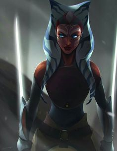She looks awesome here but cruddy in Star Wars Rebels. Stupid Disney you destroyed my favourite female in Star Wars. Star Wars Fan Art, Star Wars Gifts, Star Wars Clone Wars, Star Trek, Star Wars Rebels, Sw Rebels, Chef D Oeuvre, Oeuvre D'art, Ashoka Star Wars