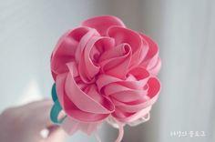 Handmade rose ribbon corsage