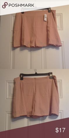 NWT Rose Colored Shorts NWT!!!! Very light weight!!! Rayon and polyester!!! Wet Seal Shorts