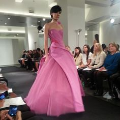 Pink wedding gown by Vera Wang, fall 2014 collection. Photo: Charanna K. Alexander/The New York Times