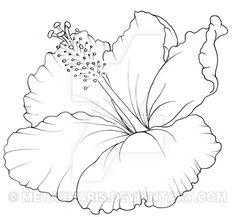 Hibiscus Flower Tattoo by Metacharis on DeviantArt