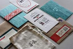 Wedding invitation suite - by Kate Holgate