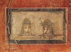 Theatrical masks. Fourth style. A.D. 50—79.Pompeii, House of Menander, I 10, atrium.