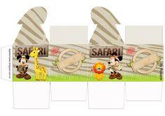 """Kit Personalizados Tema """"Safari do Mickey e da Minnie para Imprimir"""" - Convites Digitais Simples"""