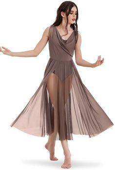 Double Cowl Mesh Maxi Dress | Balera™