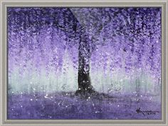 """Wisteria Dream"" by Kume Bryant, shown with our Arqadia Beaded Silver frame in the medium size.  Bring some dreamy inspiration to your decor with gorgeous prints from www.imagekind.com/!"