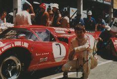 Racing Heritage Autographs South African Jackie Pretorius autographed image by Lola T70 Mk3B at the Kyalami 9 hour race 1970.  Price $65